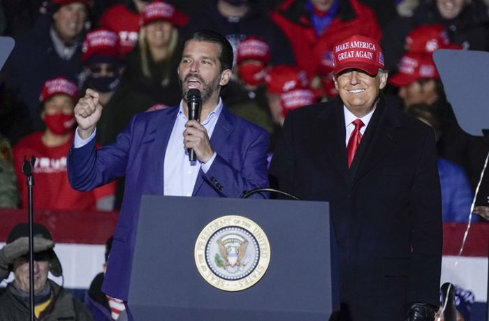 Donald Trump Jr.: Donald Trumps ältester Sohn hat Corona