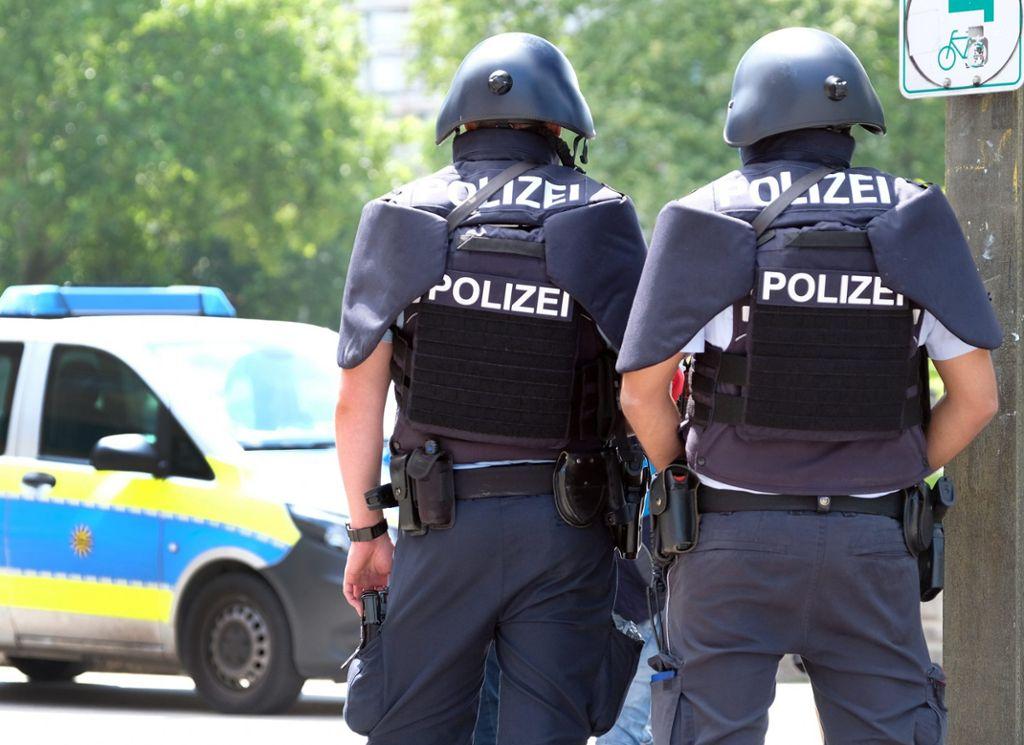 Schlossplatz Stuttgart Polizeieinsatz